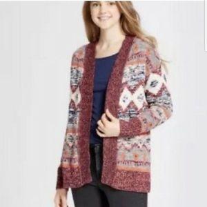 Winter sweater cardigan